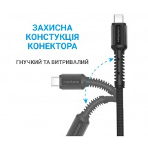 USB-Кабель MakeFuture Lightning (2.4A) Denim Grey 1м