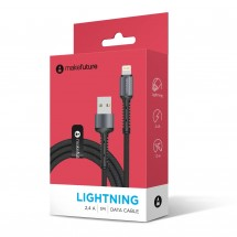 USB-Кабель MakeFuture Lightning (2.4A) Denim Grey 1м
