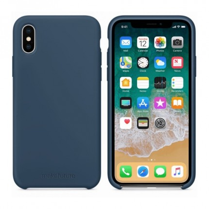 Кейс MakeFuture Silicone Apple iPhone X Blue