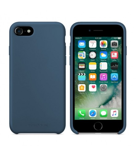 Кейс MakeFuture Apple iPhone 7/8 Silicone Blue