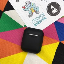 Чохол для навушників Makefuture Apple AirPods Silicone Black