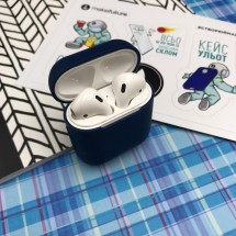 Чохол для навушників MakeFuture Apple AirPods Silicone Blue