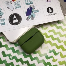Чохол для навушників MakeFuture Apple AirPods Pro Silicone Green