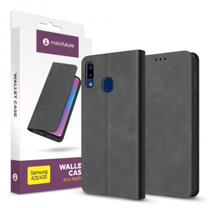 Чохол-книжка MakeFuture Wallet Case (ECO Leather) Samsung A20/A30 Black