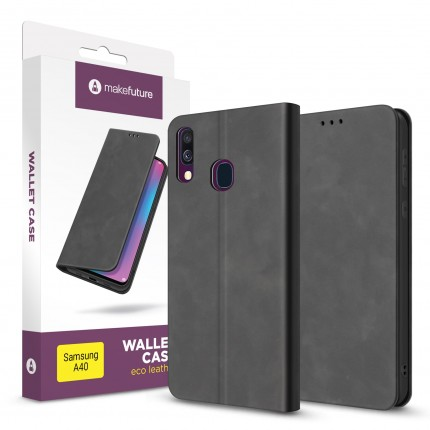 Чохол-книжка MakeFuture Wallet Case (ECO Leather) Samsung A40 Black