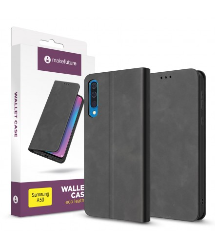 Чохол-книжка MakeFuture Wallet Case (ECO Leather) Samsung A50 Black