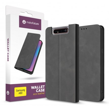 Чохол-книжка MakeFuture Wallet Case (ECO Leather) Samsung A80 Black
