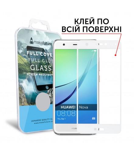 Захисне скло MakeFuture Huawei Nova Full Cover Full Glue White