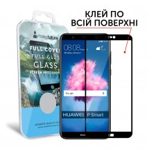 Захисне скло MakeFuture Full Cover Full Glue Huawei P Smart Black