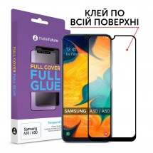 Захисне скло MakeFuture Full Cover Full Glue Samsung A30 (A305)/A50 (A505)
