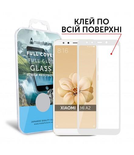 Захисне скло MakeFuture Xiaomi MiA2 (Mi6X) Full Cover Full Glue White