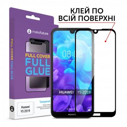 Захисне скло MakeFuture Full Cover Full Glue Huawei Y5 2019 Black