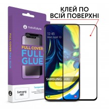 Захисне скло MakeFuture Full Cover Full Glue Samsung A80