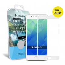 Захисне скло MakeFuture Full Cover Full Glue Meizu M5s White