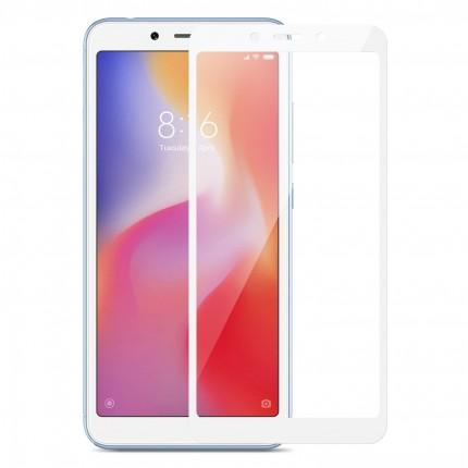 Захисне скло MakeFuture Full Cover Full Glue Xiaomi Redmi 6 White