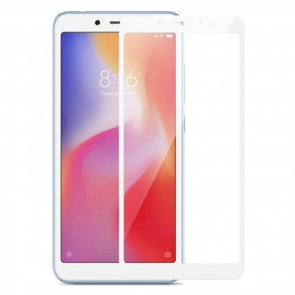 Захисне скло MakeFuture Full Cover Full Glue Xiaomi Redmi 6A White