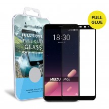 Захисне скло MakeFuture Full Cover Full Glue Meizu M6s Black