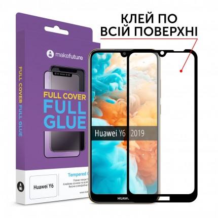 Захисне скло MakeFuture Full Cover Full Glue Huawei Y6 2019