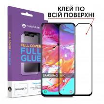Захисне скло MakeFuture Full Cover Full Glue Samsung A70 (A705)