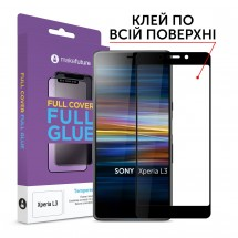 Захисне скло MakeFuture Full Cover Full Glue Sony Xperia L3