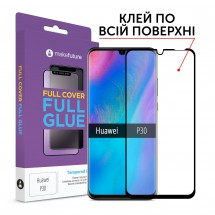 Захисне скло MakeFuture Full Cover Full Glue Huawei P30