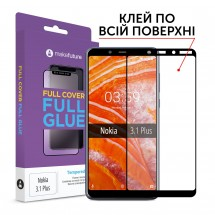 Захисне скло MakeFuture Nokia 3.1 Plus Full Cover Full Glue