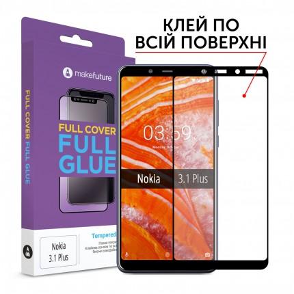 Захисне скло MakeFuture Full Cover Full Glue Nokia 3.1 Plus
