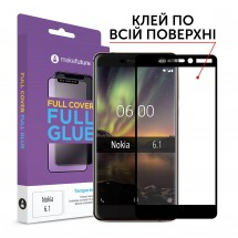 Захисне скло MakeFuture Full Cover Full Glue Nokia 6.1
