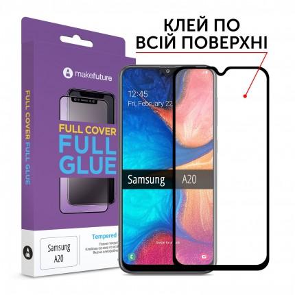 Захисне скло MakeFuture Samsung A20 (A205) Full Cover Full Glue