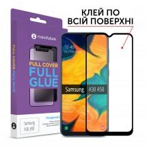 Захисне скло MakeFuture Full Cover Full Glue Samsung A30 (A305)/A50 (A505)