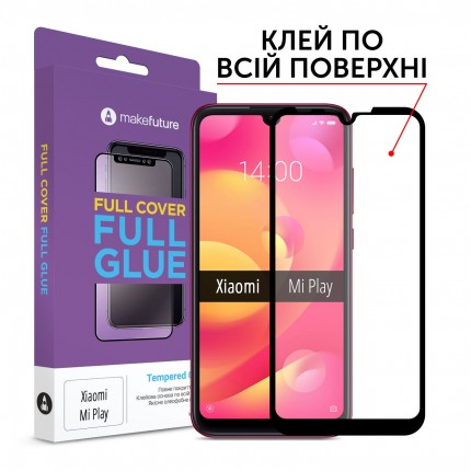 Захисне скло MakeFuture Full Cover Full Glue Xiaomi Mi Play