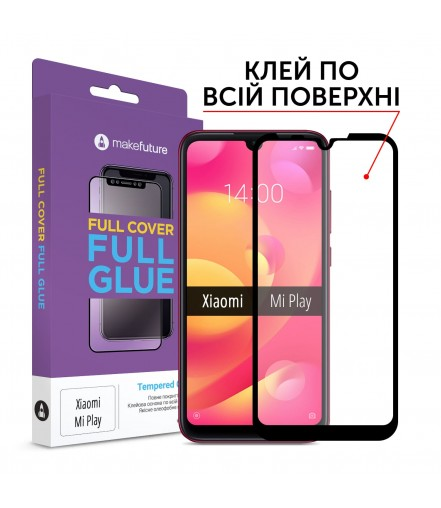 Захисне скло MakeFuture Xiaomi Mi Play Full Cover Full Glue