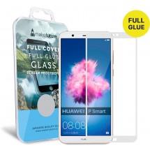 Захисне скло MakeFuture Full Cover Full Glue Huawei P Smart White