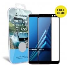 Захисне скло MakeFuture Full Cover Full Glue Samsung A8 2018 Black