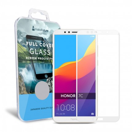 Захисне скло MakeFuture Full Cover Honor 7C White