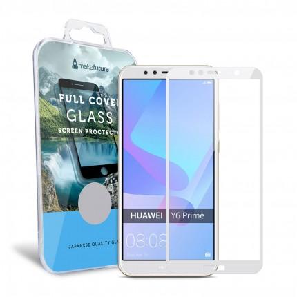 Захисне скло MakeFuture Full Cover Huawei Y6 Prime 2018 White