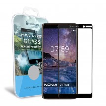 Захисне скло MakeFuture Nokia 7 Plus Full Cover Black