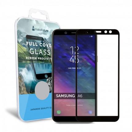 Захисне скло MakeFuture Full Cover Samsung A6 2018 Black