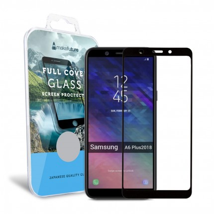Захисне скло MakeFuture Full Cover Samsung A6 Plus 2018 Black