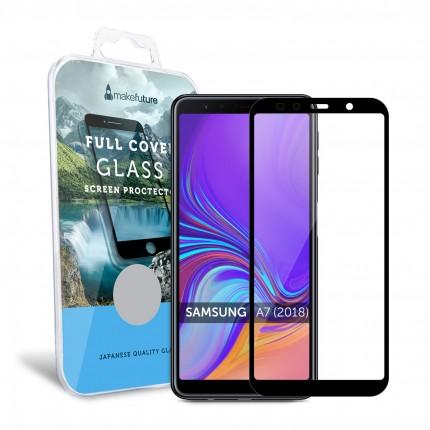 Захисне скло MakeFuture Full Cover Samsung A7 2018 (A750) Black