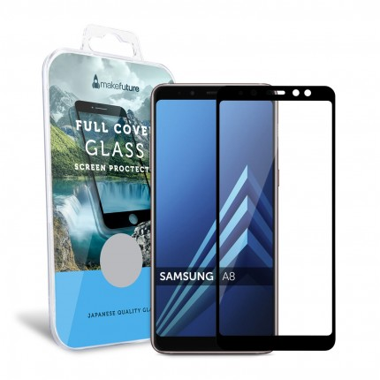 Захисне скло MakeFuture Full Cover Samsung A8 2018 Black