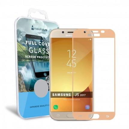 Захисне скло MakeFuture Full Cover Samsung J5 2017 (J530) Gold