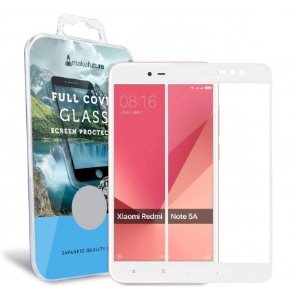 Захисне скло MakeFuture Xiaomi Redmi Note 5A Full Cover White