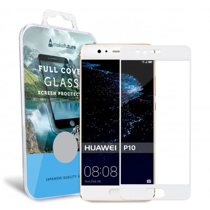 Захисне скло MakeFuture Full Cover Huawei P10 White
