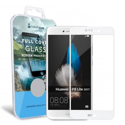 Захисне скло MakeFuture Full Cover Huawei P8 Lite 2017 White