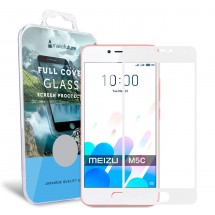 Захисне скло MakeFuture Full Cover Meizu M5C White