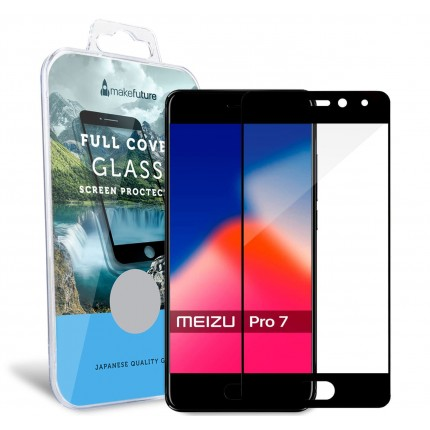 Захисне скло MakeFuture Full Cover Meizu Pro 7 Black