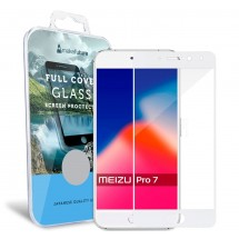 Захисне скло MakeFuture Full Cover Meizu Pro 7 White