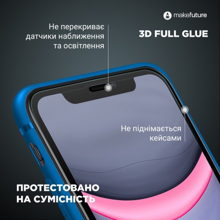 Захисне скло MakeFuture 3D Apple iPhone 7 Plus/8 Plus White