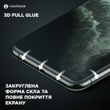 Захисне скло MakeFuture 3D Apple iPhone XS Max Black